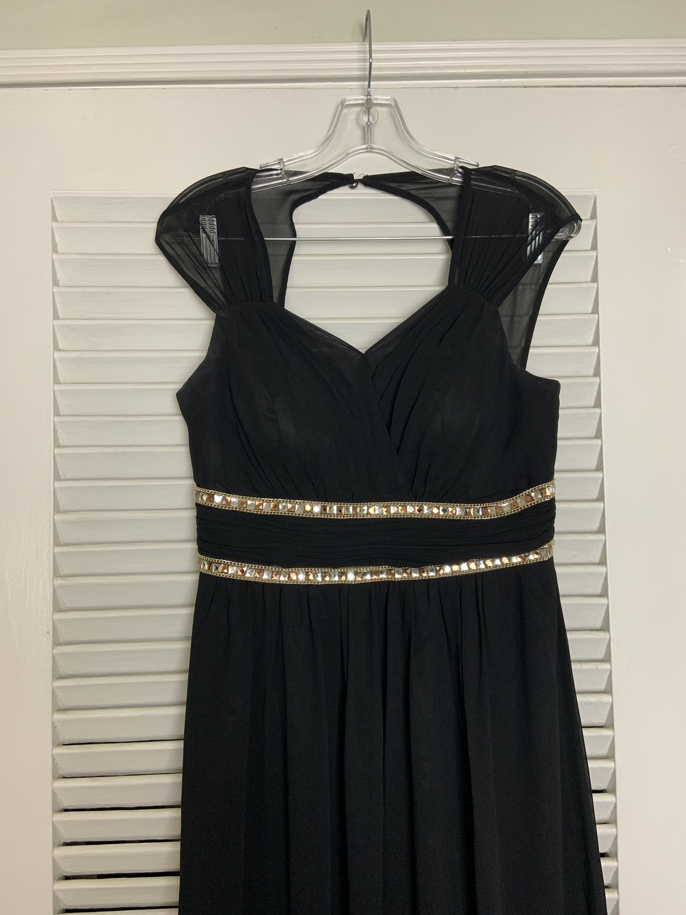 Ever pretty Black Size 10 Prom Tall Height Ball gown on Queenly