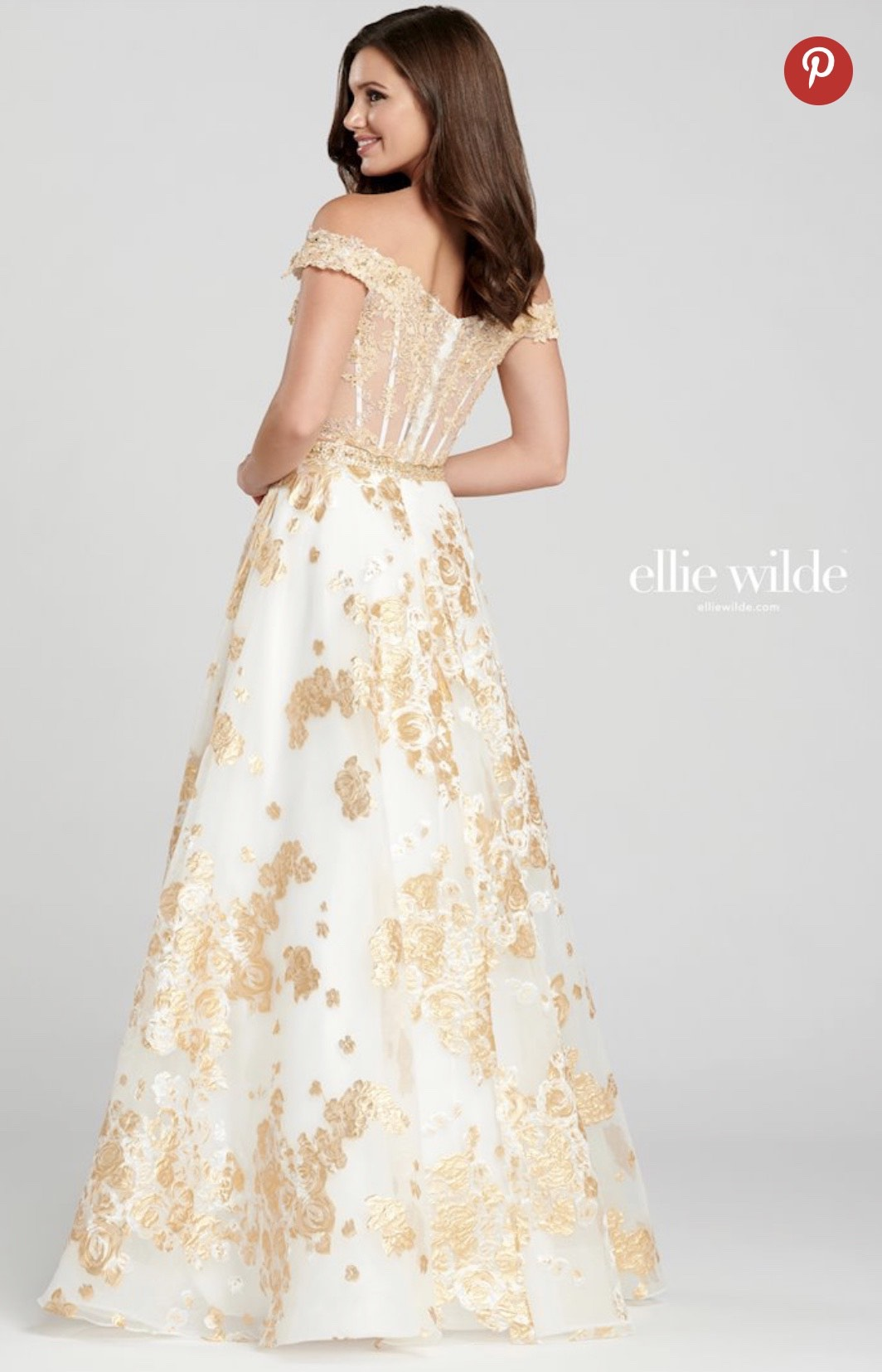Ellie Wilde Gold Size 12 Pockets Two Piece Ball gown on Queenly