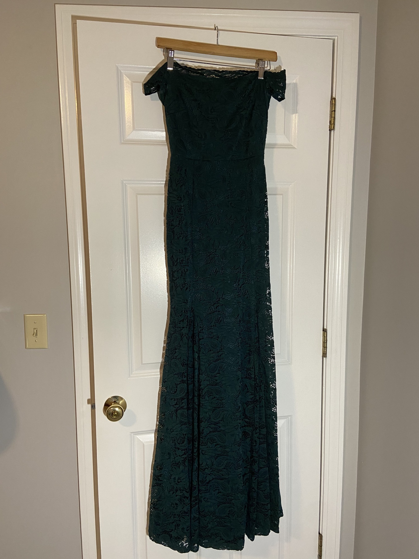 Windsor Green Size 6 Tall Height Lace Mermaid Dress on Queenly