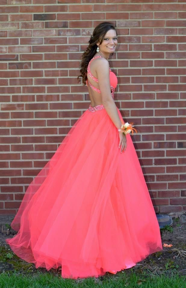 Jovani Orange Size 0 Backless Tall Height Ball gown on Queenly