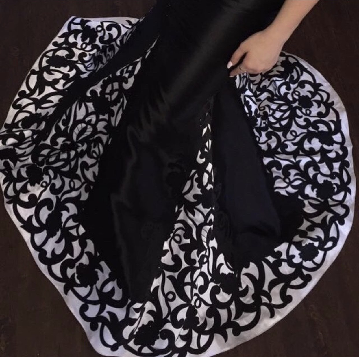 Camille La Vie Black Size 6 Tall Height Mermaid Dress on Queenly