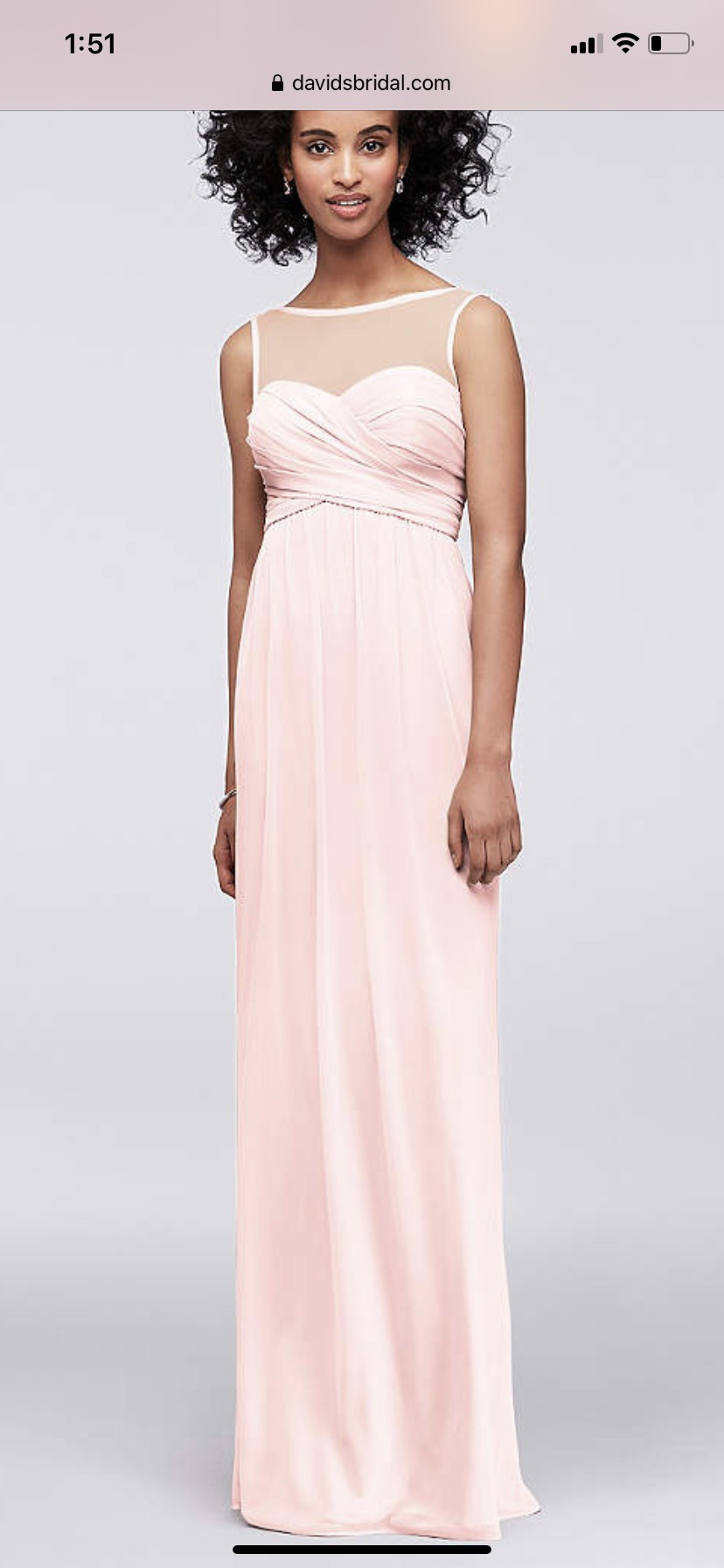 Alfred Angelo Pink Size 8 Sheer A-line Dress on Queenly
