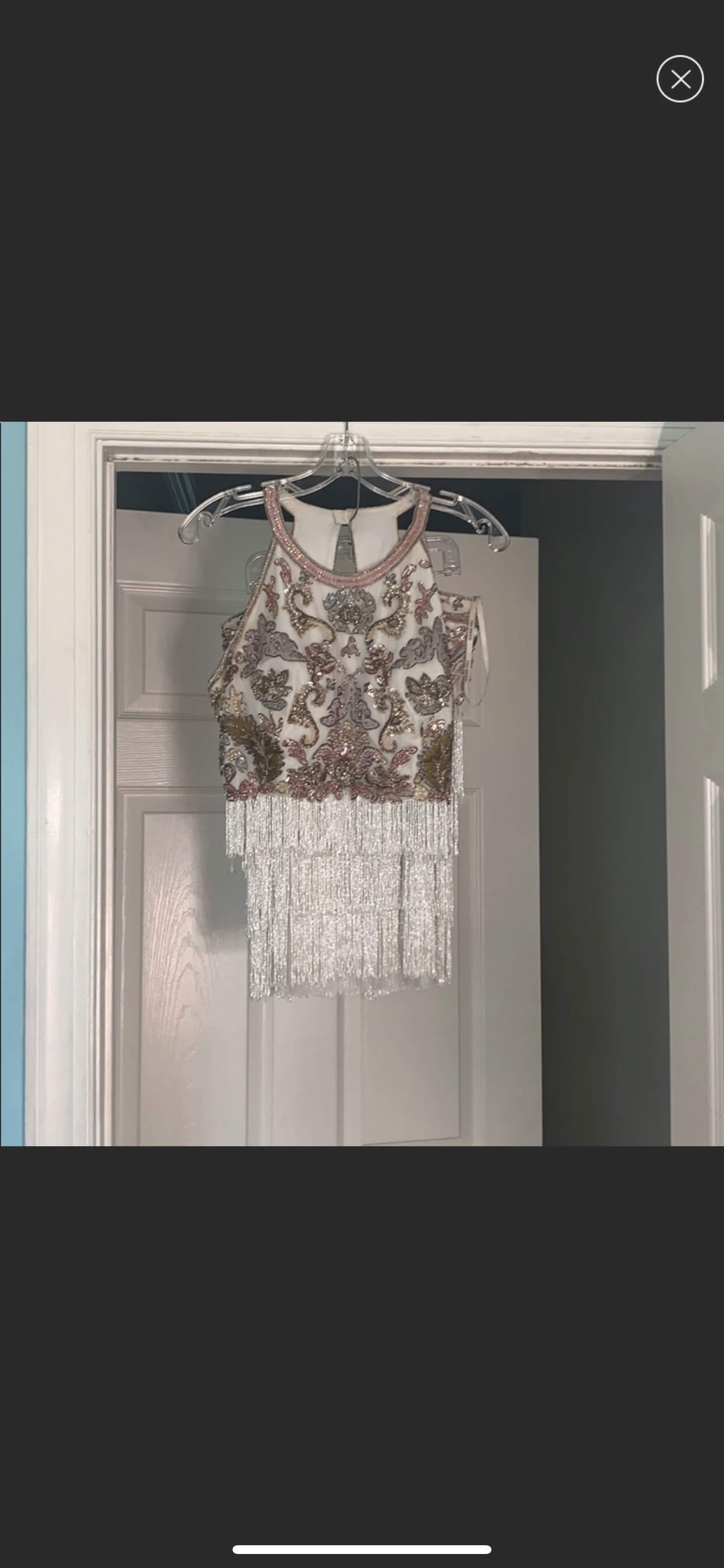 Sherri Hill White Size 10 Nightclub Homecoming Fringe Cocktail Dress on Queenly