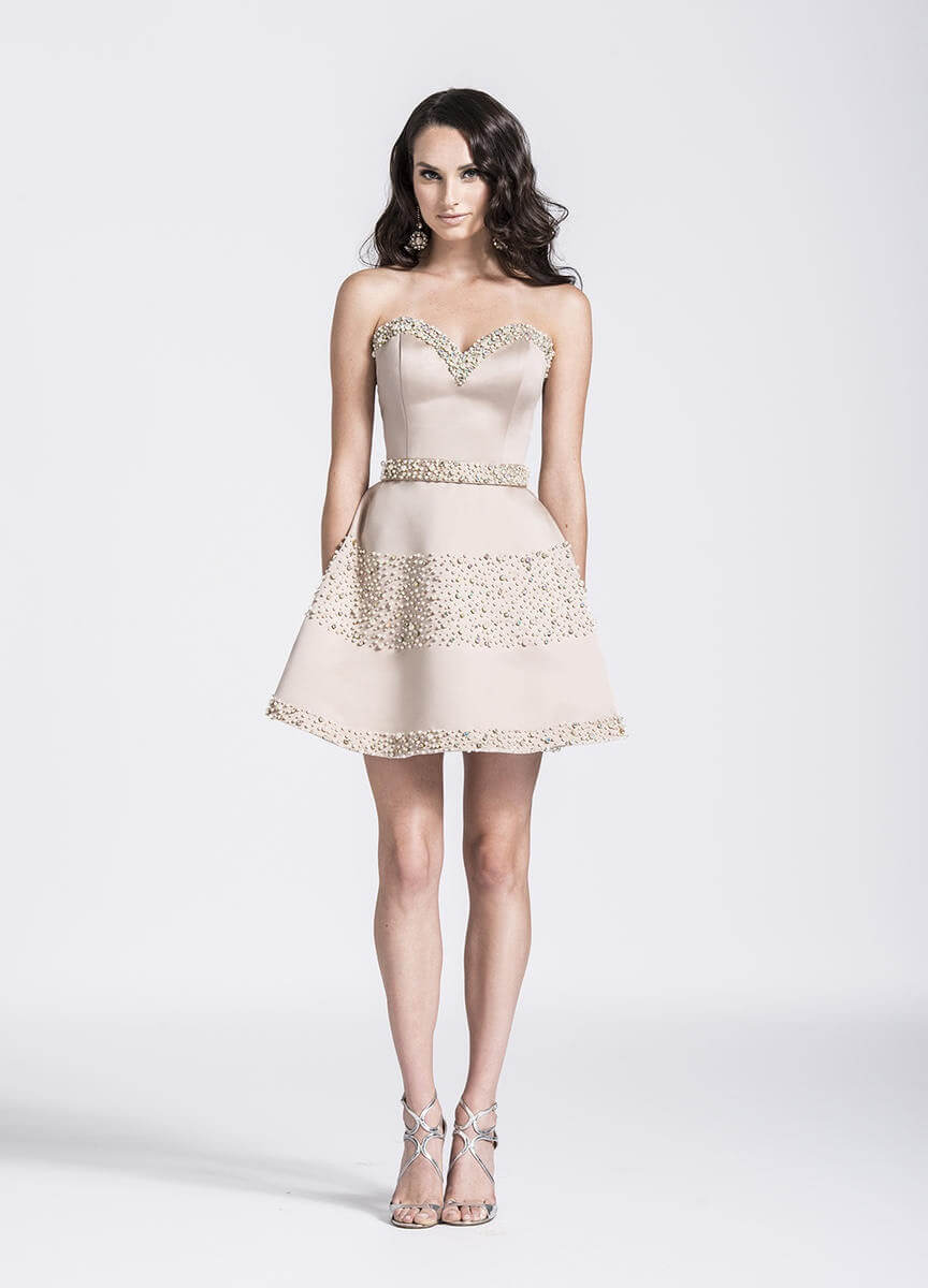 Nude Size 2 Cocktail Dress on Queenly
