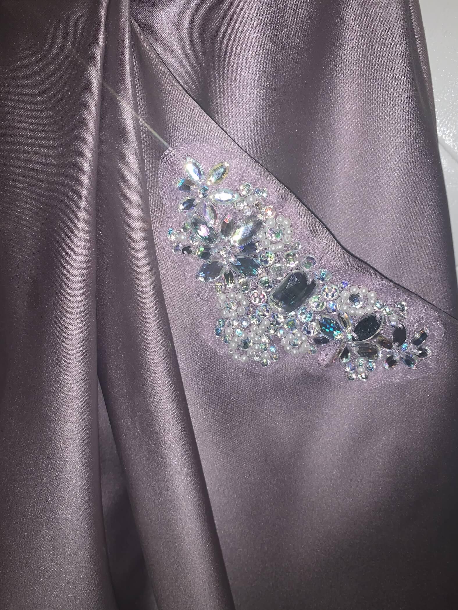 Blondie Nites Purple Size 2 Medium Height Short Height Silk Cocktail Dress on Queenly
