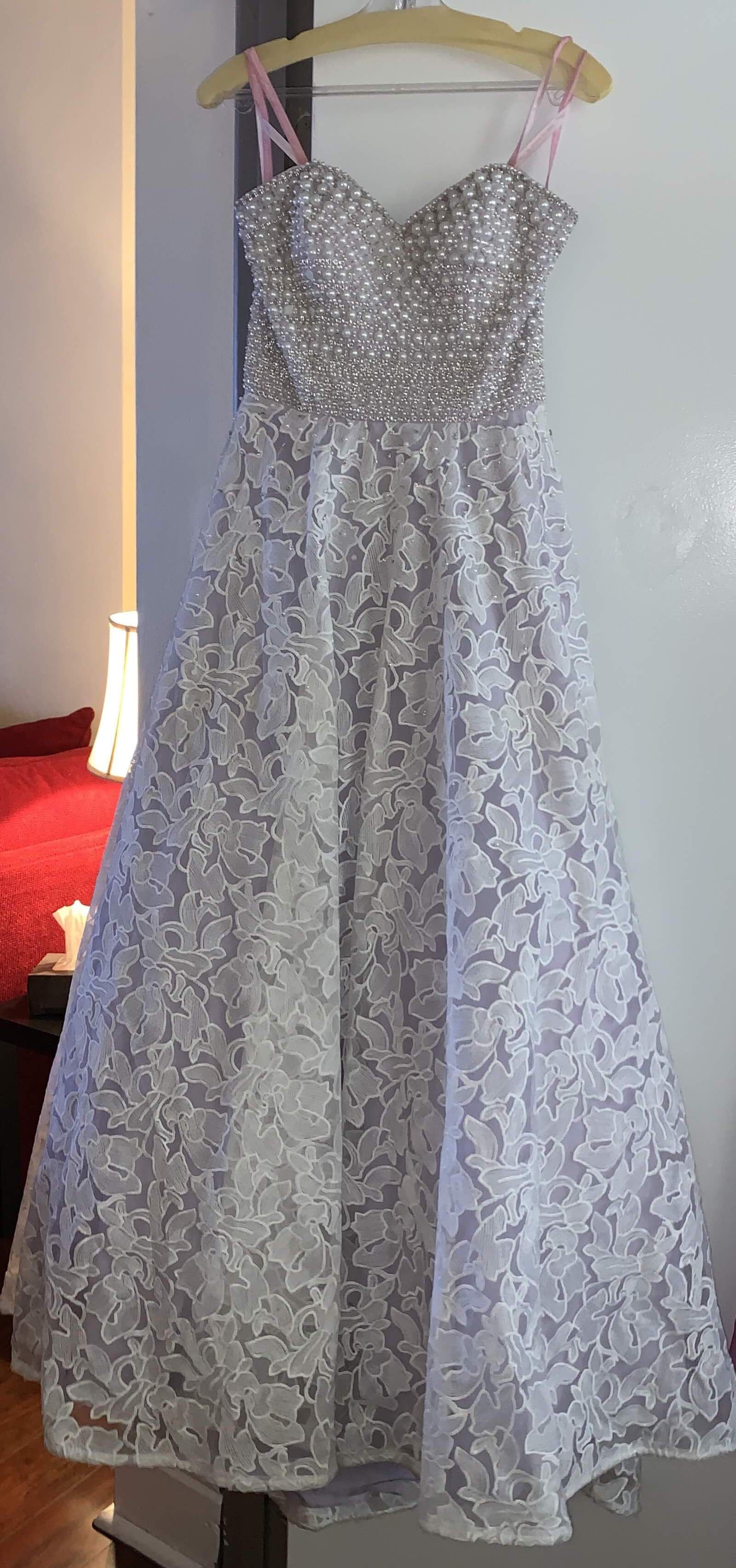 Blush Multicolor Size 2 White Lavender Ball gown on Queenly