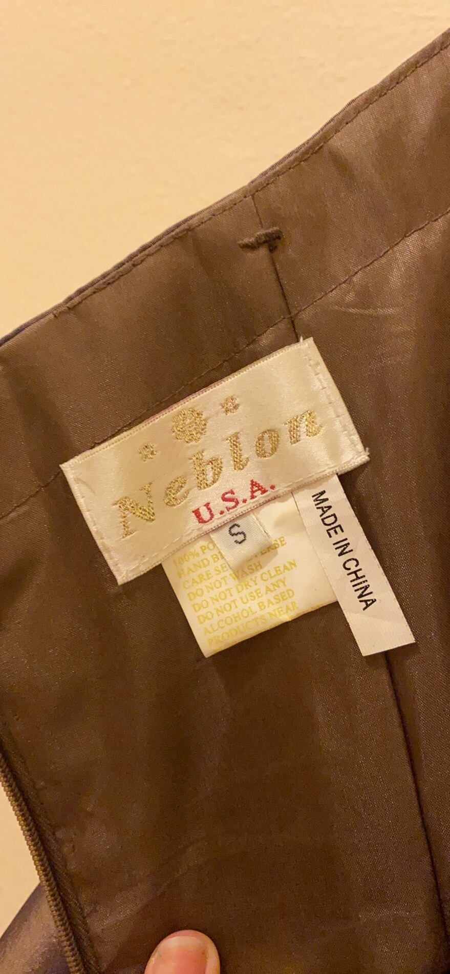 Neblon Gold Size 0 Prom Ball gown on Queenly