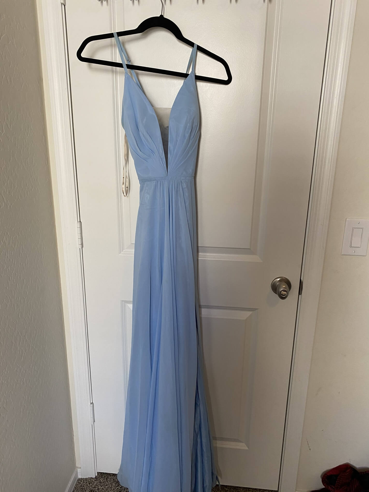 Faviana Light Blue Size 2 Prom Ball gown on Queenly