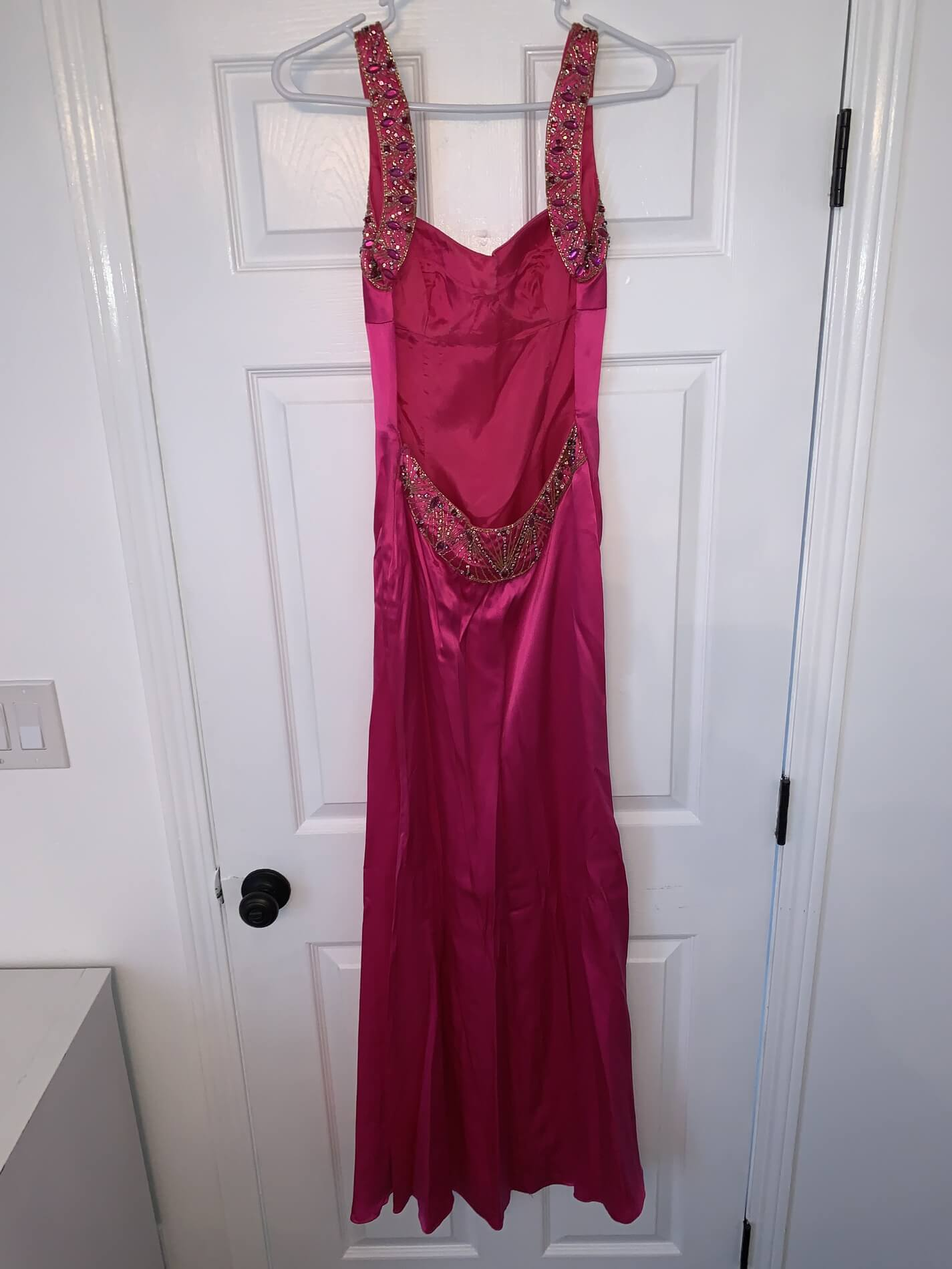 Jovani Pink Size 4 Prom Straight Dress on Queenly