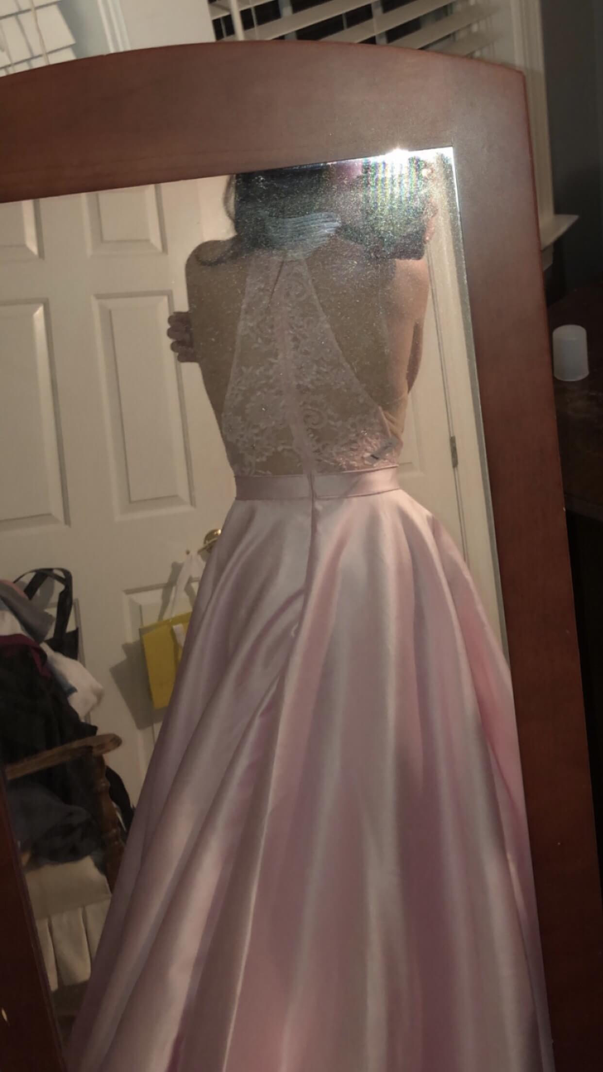 Sherri Hill Light Pink Size 0 Prom Silk Ball gown on Queenly