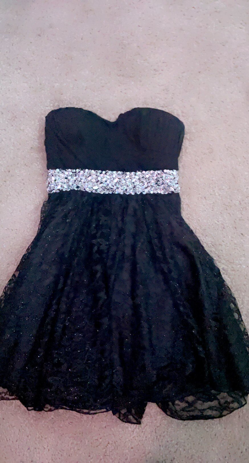 my michelle Black Size 8 Homecoming Belt Straight Dress on Queenly