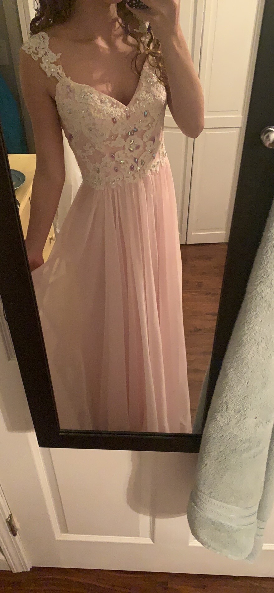 Blush Pink Size 2 Prom A-line Dress on Queenly