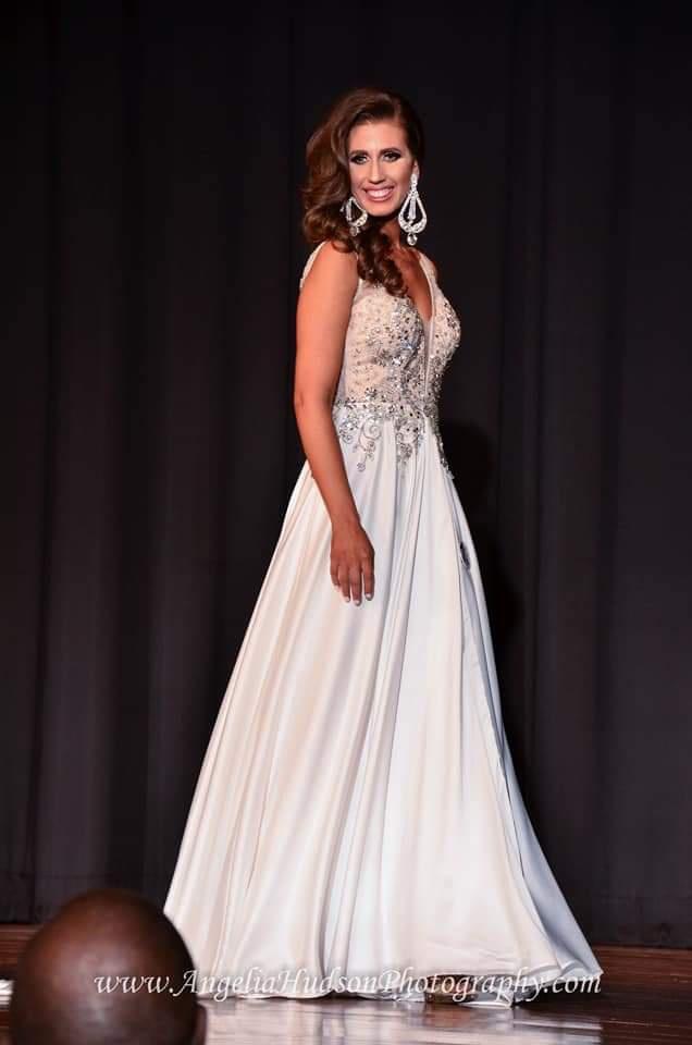 Rachel Allan White Size 4 Shiny Rachel Allen  Side Slit A-line Dress on Queenly