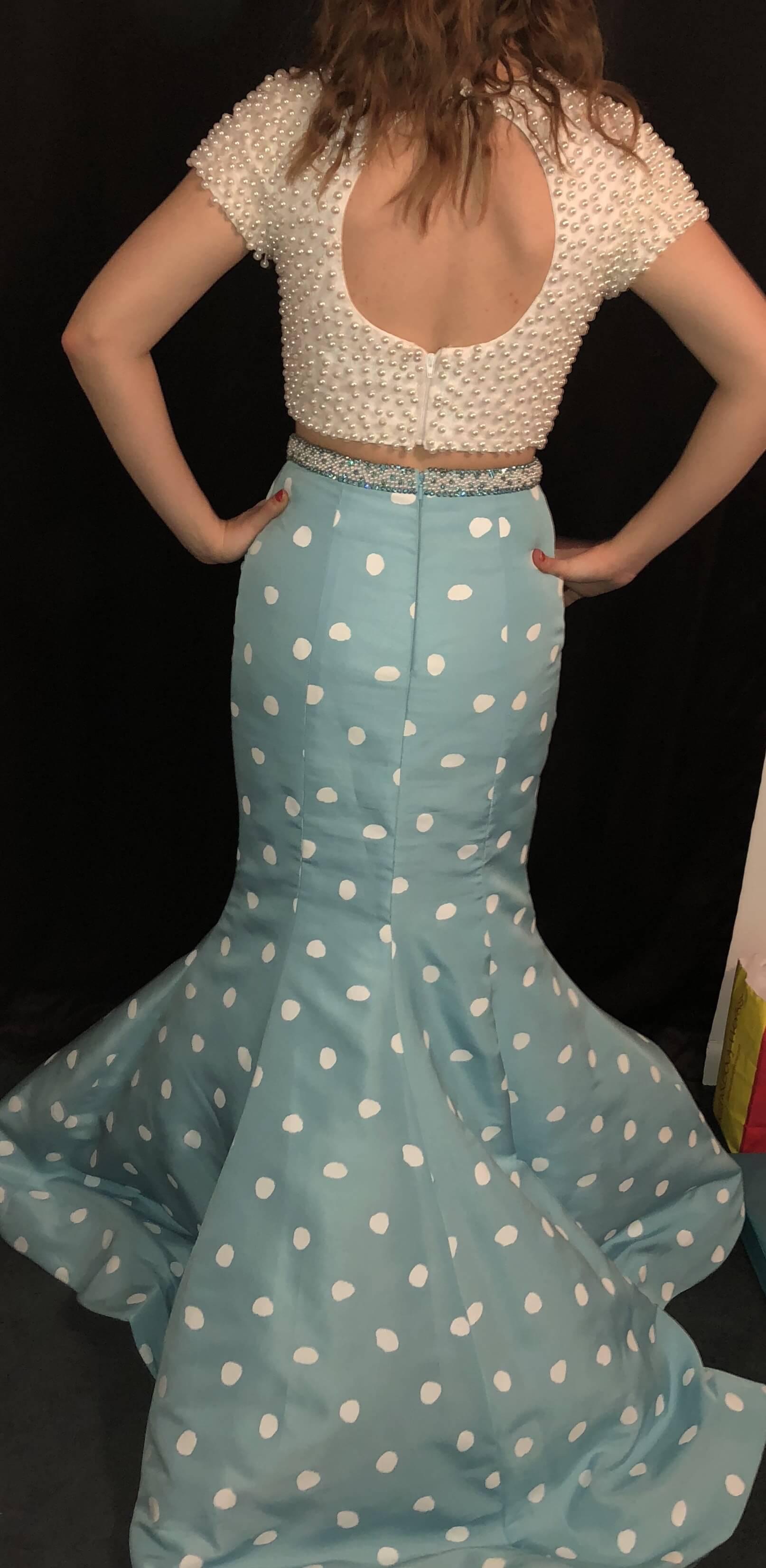 Sherri Hill Blue Size 2 Mermaid Dress on Queenly