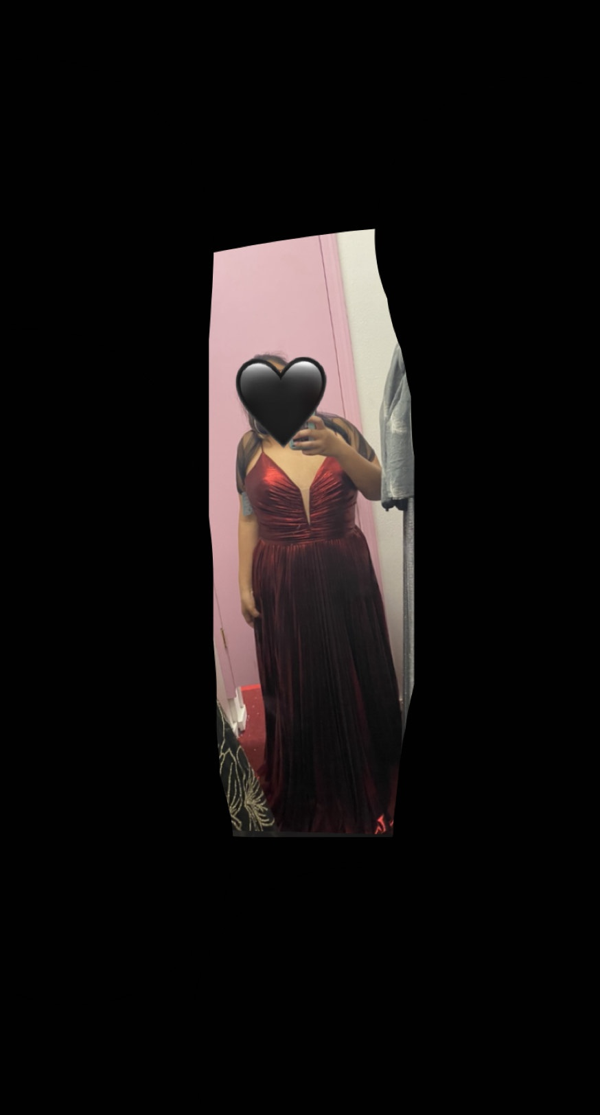 Red Size 22 Side slit Dress on Queenly