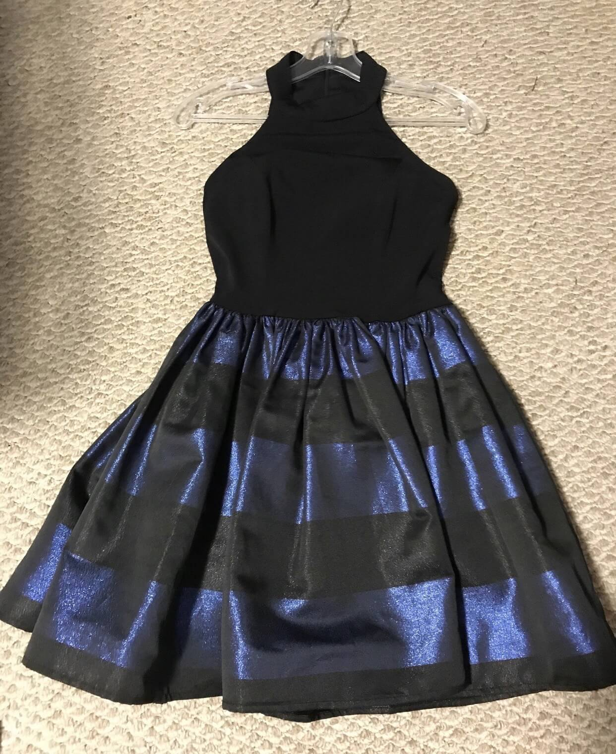 Jovani Blue Size 2 Wedding Guest Cocktail Dress on Queenly