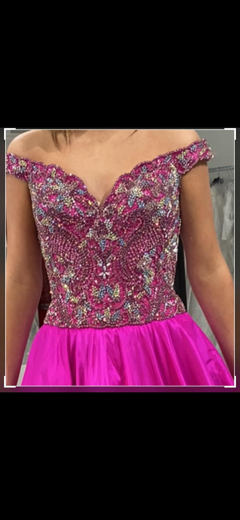 Sherri Hill Pink Size 6 Sequin Custom Pageant Ball gown on Queenly