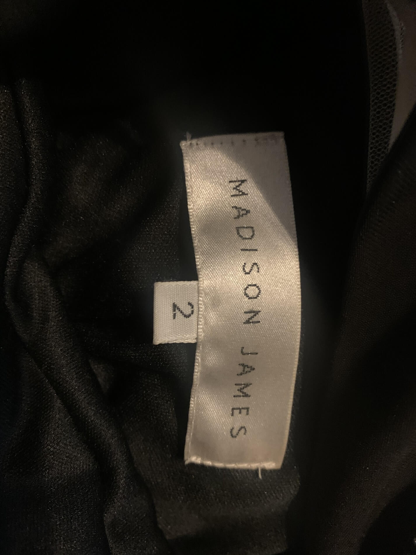 Madison James Black Size 2 Sheer Straight Dress on Queenly
