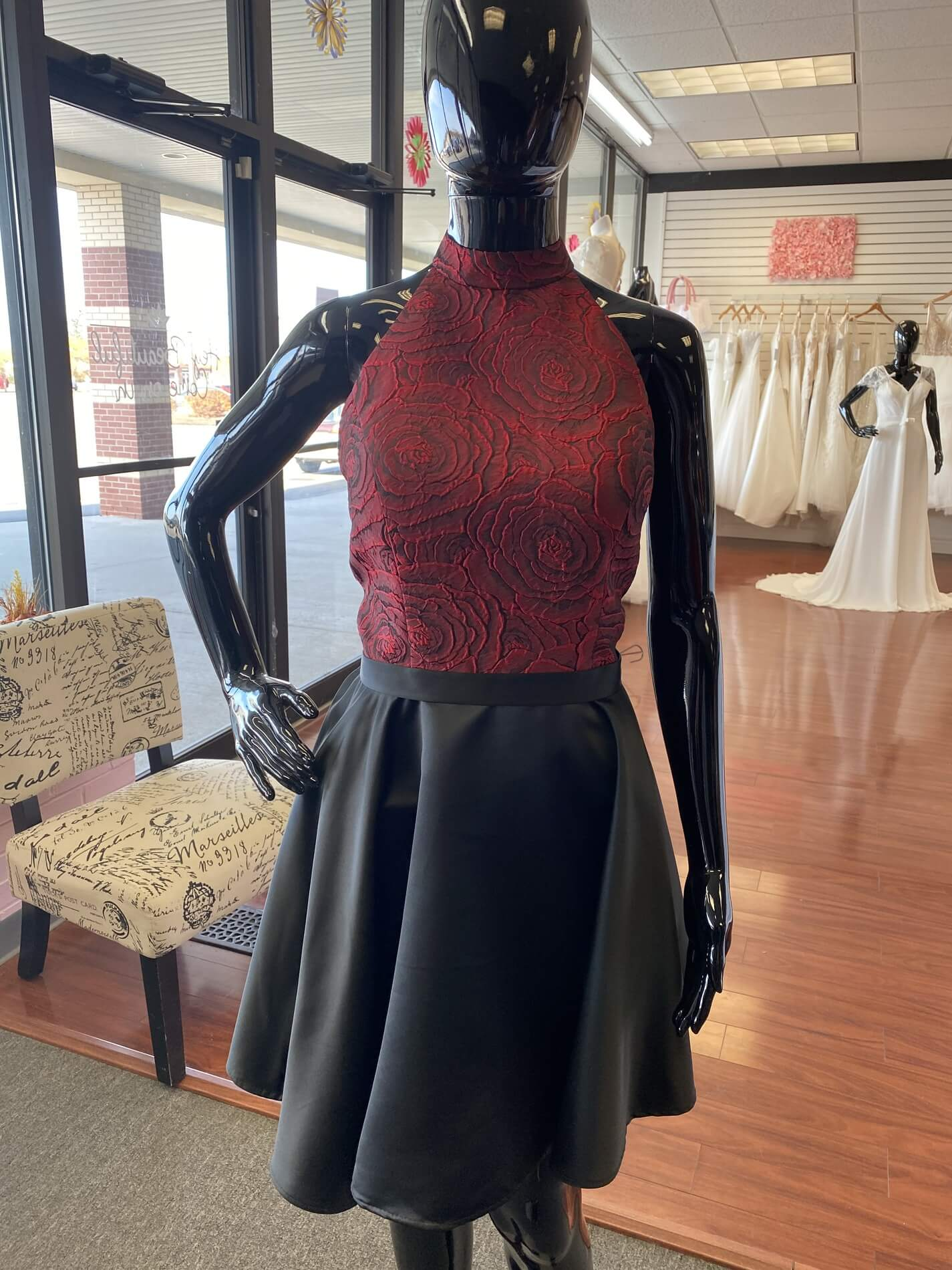 Jolene Red Size 12 Graduation Halter Silk Wedding Guest Cocktail Dress on Queenly