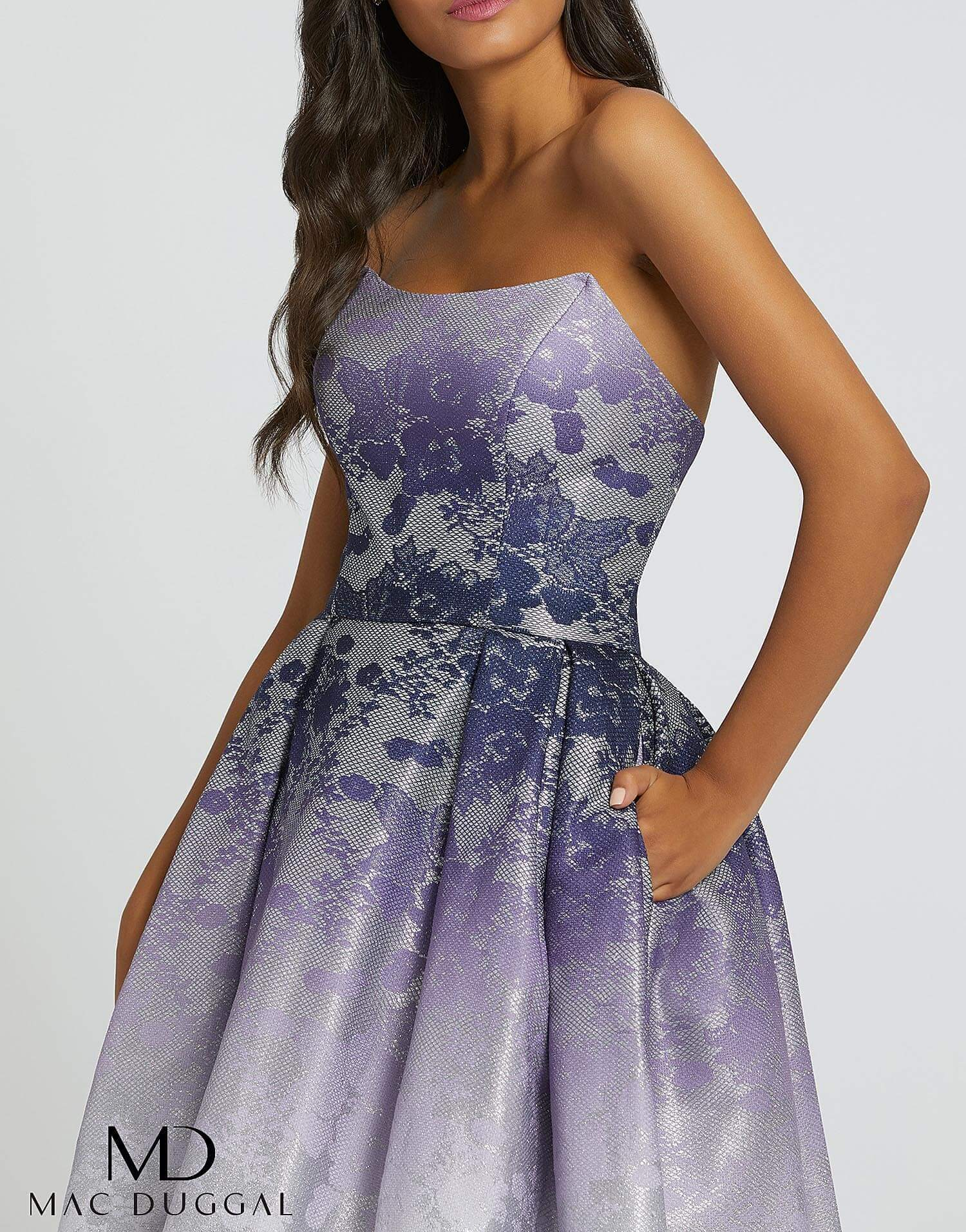 Style 12310H Mac Duggal Purple Size 4 Tall Height Ball gown on Queenly