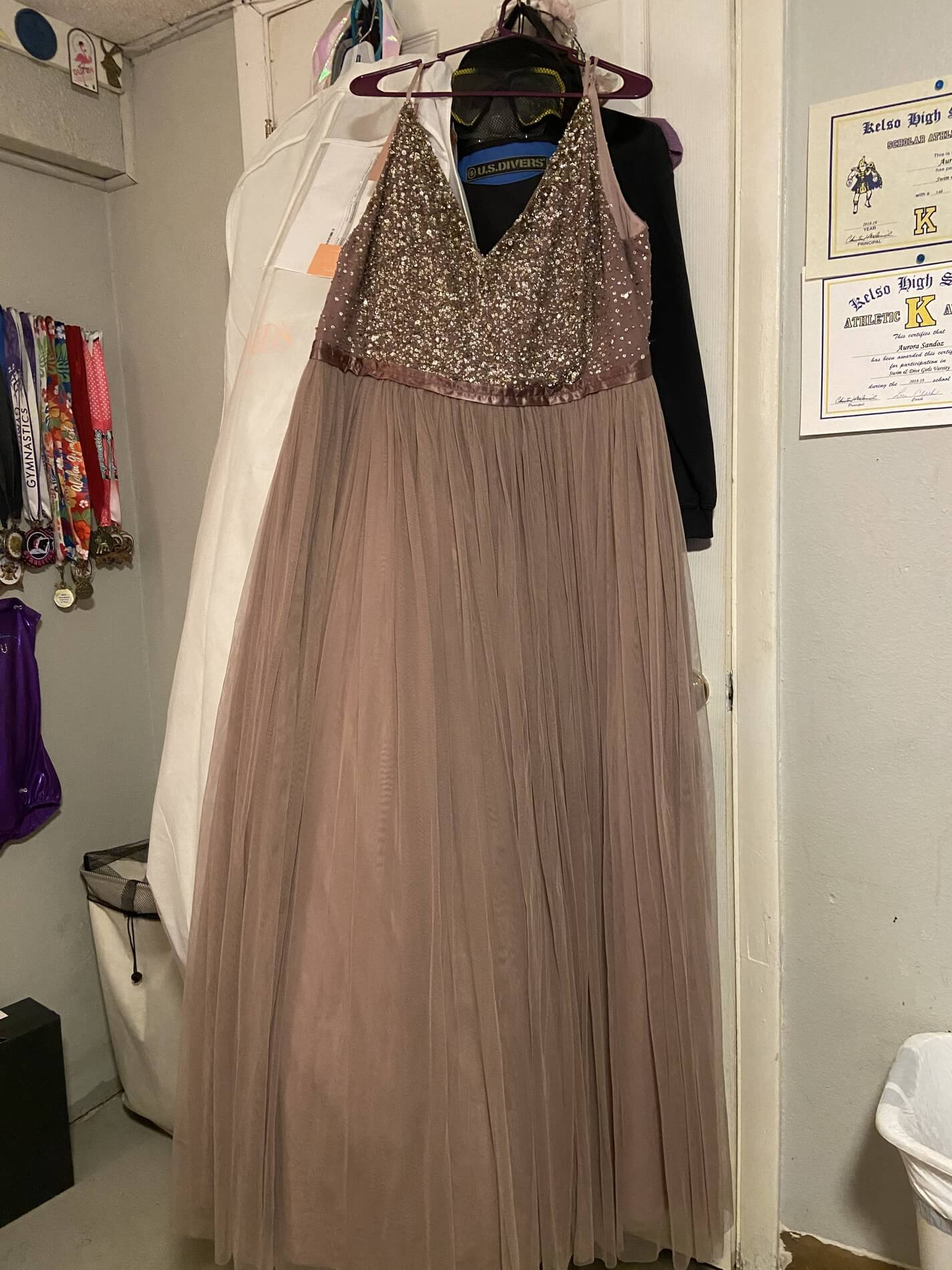 BHLDN Purple Size 22 Prom A-line Dress on Queenly
