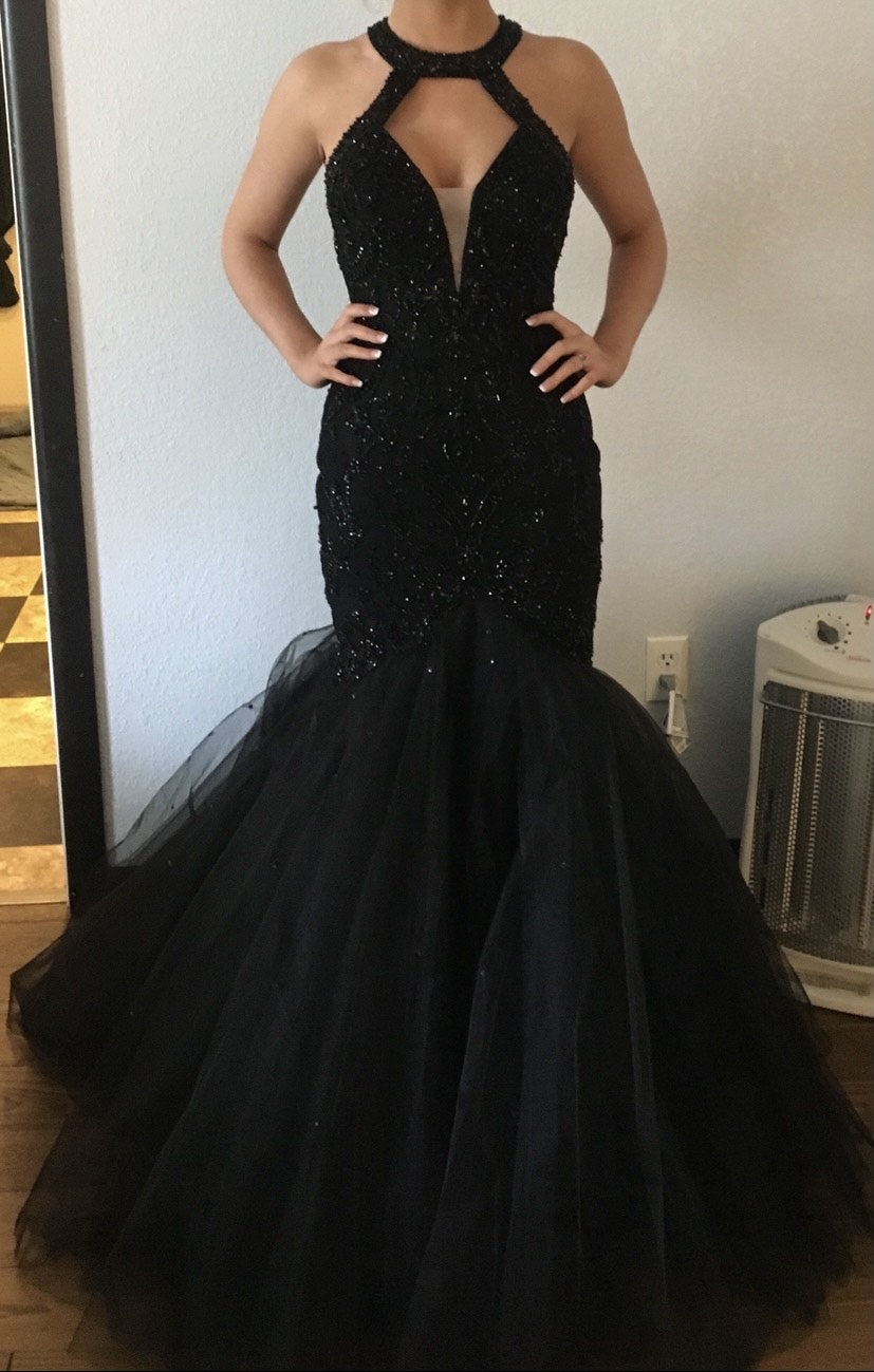 Black Size 00 Mermaid Dress on Queenly