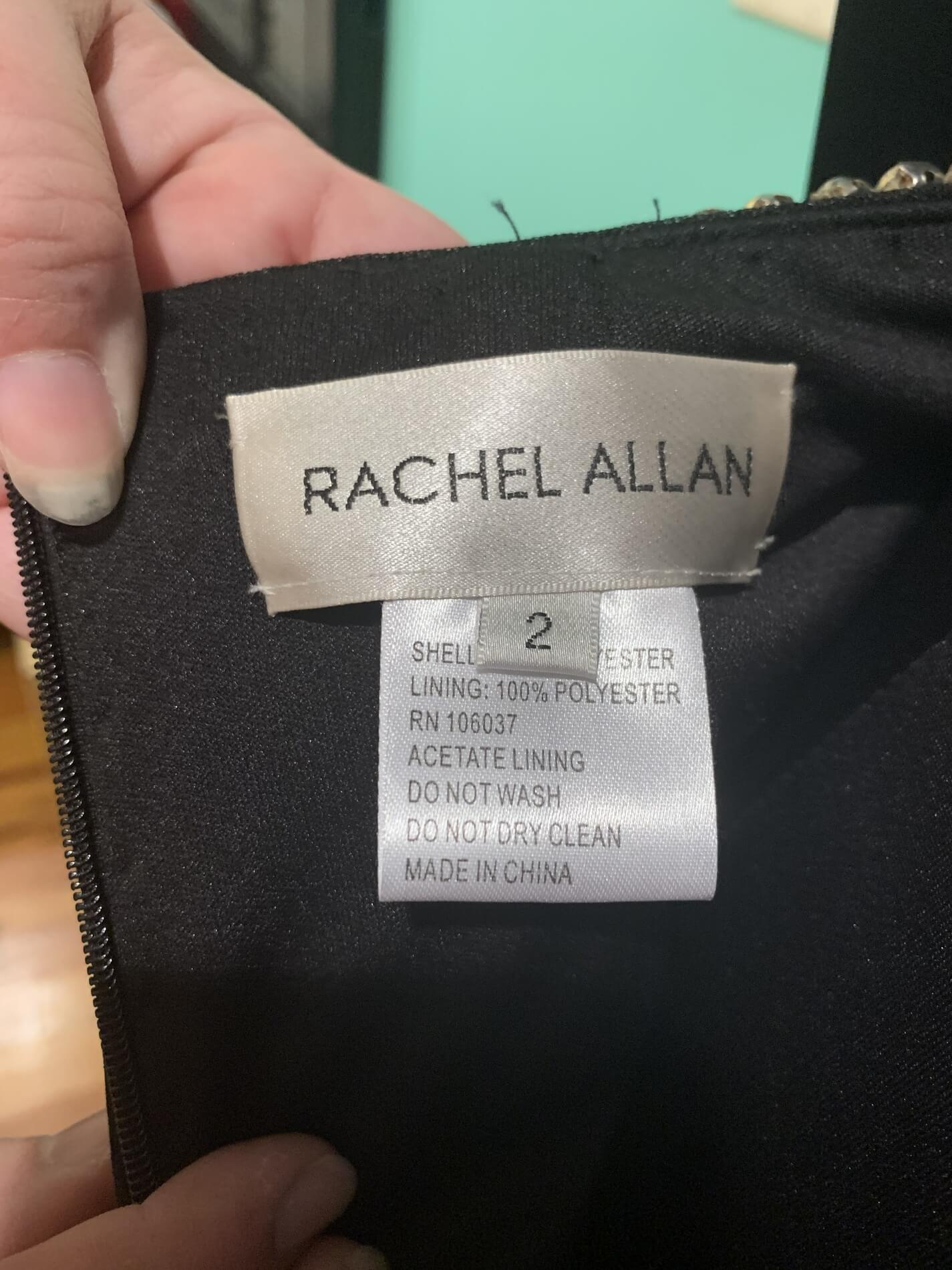 Rachel Allan Black Size 2 Interview Two Piece Cocktail Dress on Queenly