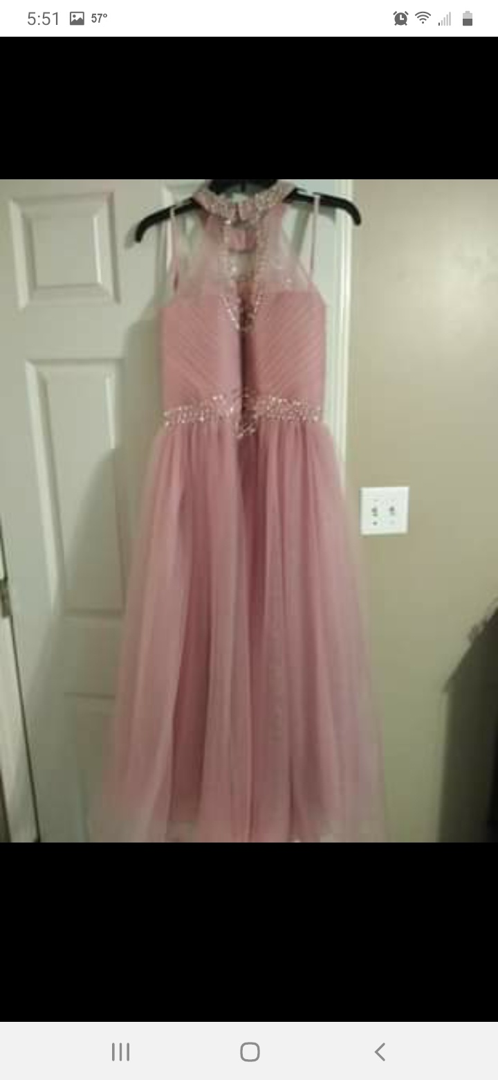 Pink Size 0 A-line Dress on Queenly