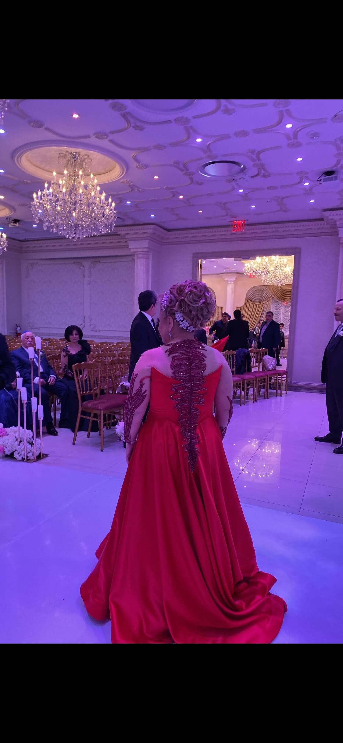 Custom made ball gown dress Red Size 12 Plus Size Short Height Ball gown on Queenly