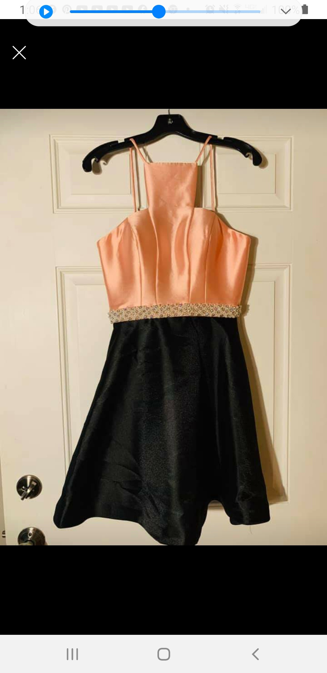 Ashley Lauren Gold Size 4 Homecoming Flare Cocktail Dress on Queenly