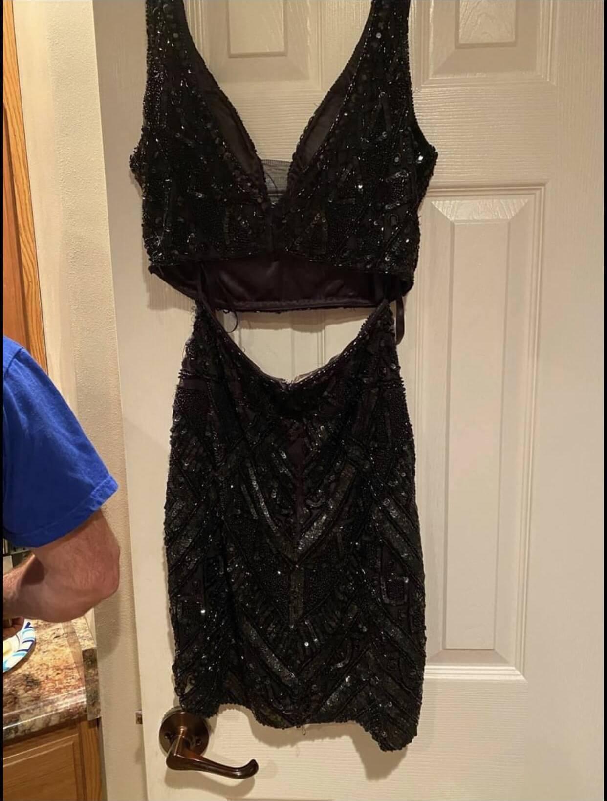 Primavera Black Size 8 Nightclub Sorority Formal Tall Height Cocktail Dress on Queenly
