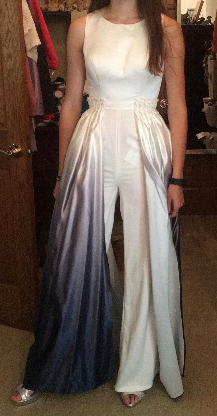 Ashley Lauren Multicolor Size 0 Tall Height Custom Jumpsuit Dress on Queenly