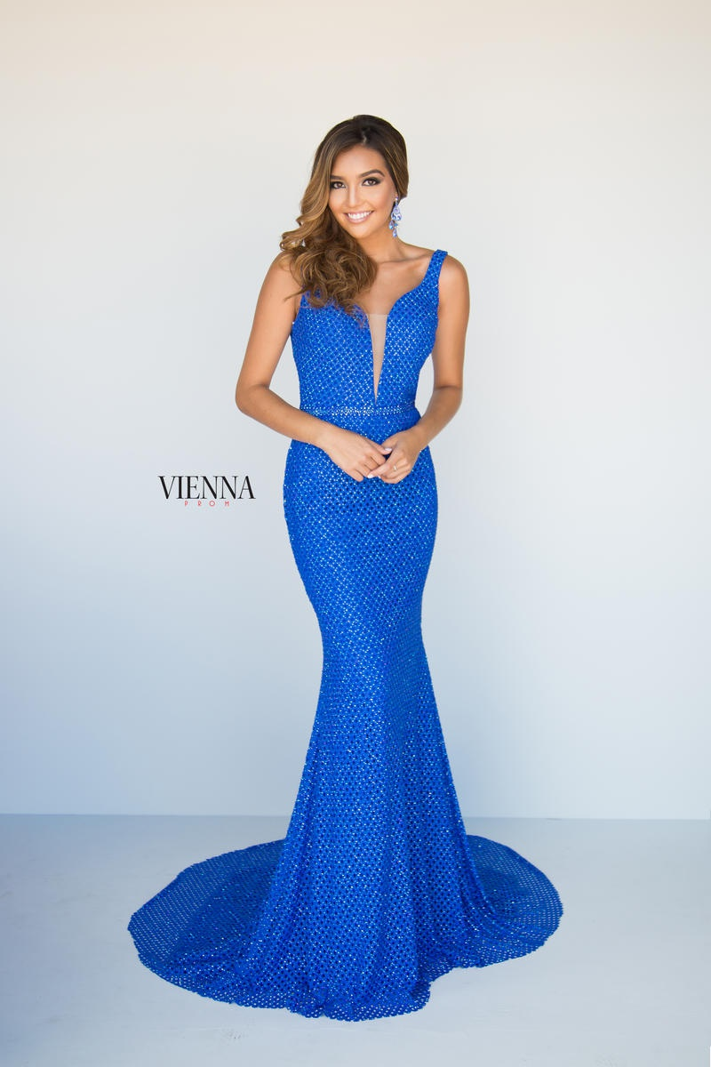 Style 9921 Vienna Royal Blue Size 10 Prom Mermaid Dress on Queenly