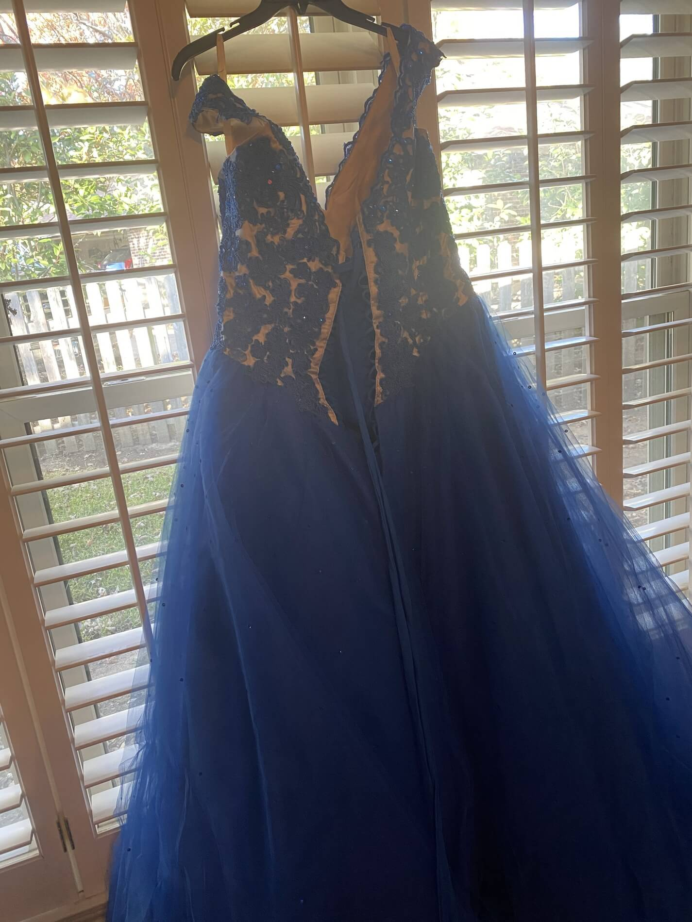 Mori Lee Blue Size 20 Embroidery Pageant Ball gown on Queenly