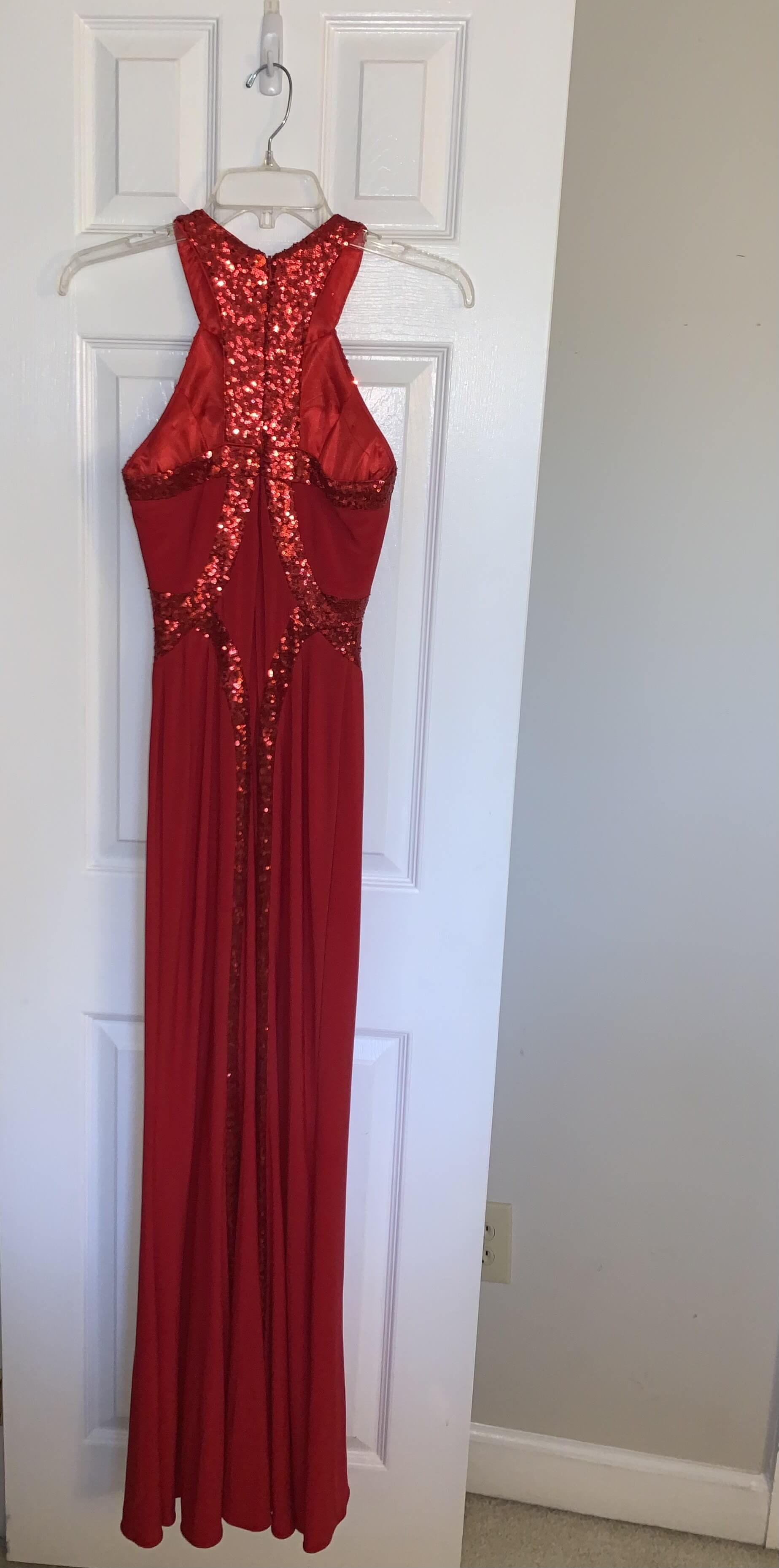 Faviana Red Size 0 Prom Halter A-line Dress on Queenly