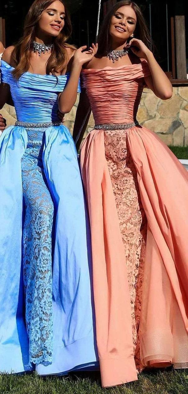 Style 50239 Tarik Ediz Pink Size 6 Sleeves Overskirt A-line Dress on Queenly