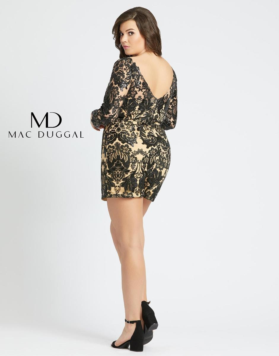 Style 66809F Mac Duggal Multicolor Size 14 Train Plus Size Tulle Prom Romper/Jumpsuit Dress on Queenly