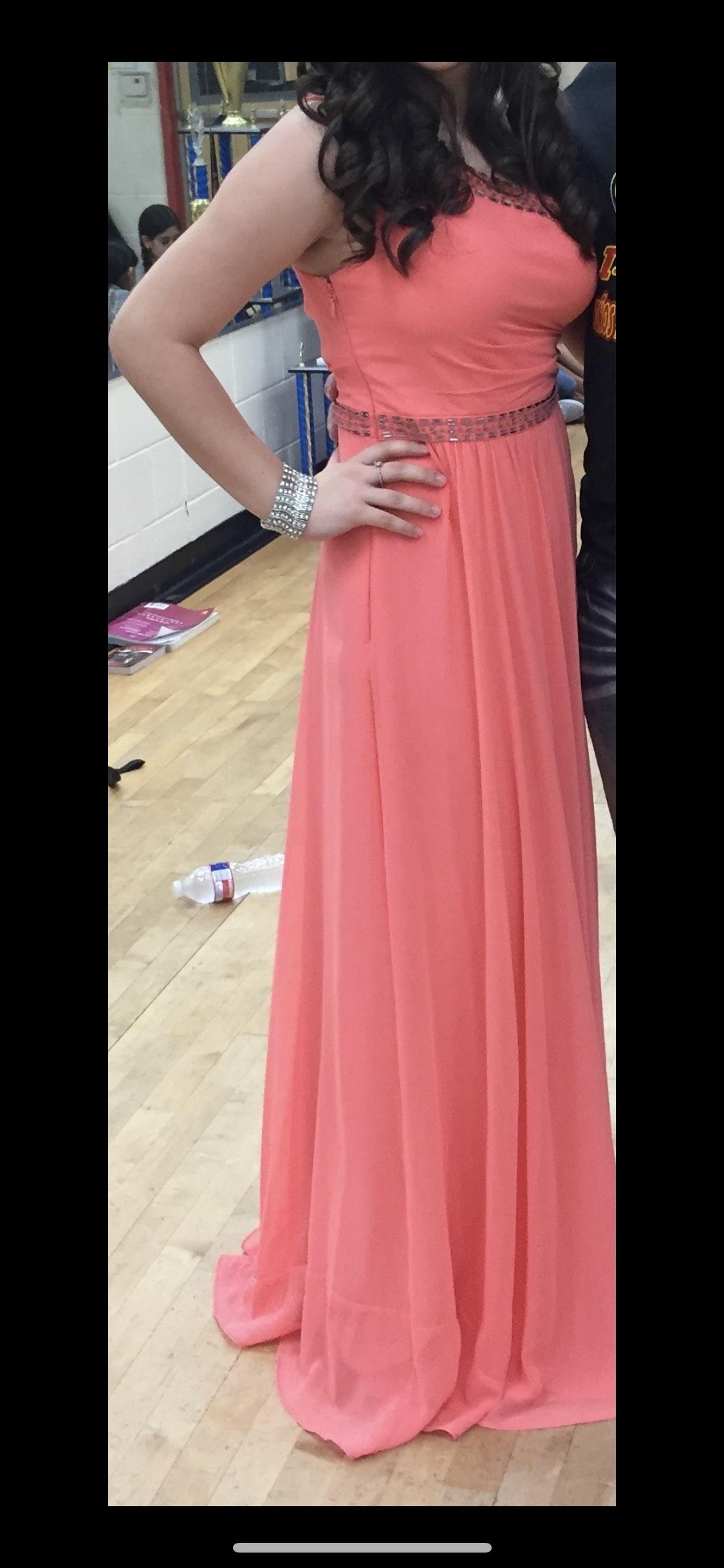 Orange Size 6 Straight Dress on Queenly