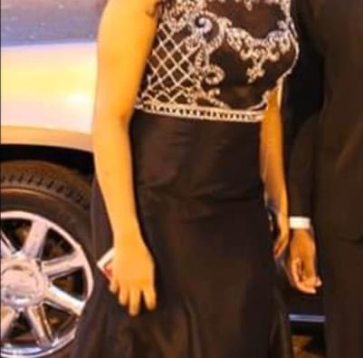 Camille La Vie Black Size 12 Train Mermaid Dress on Queenly