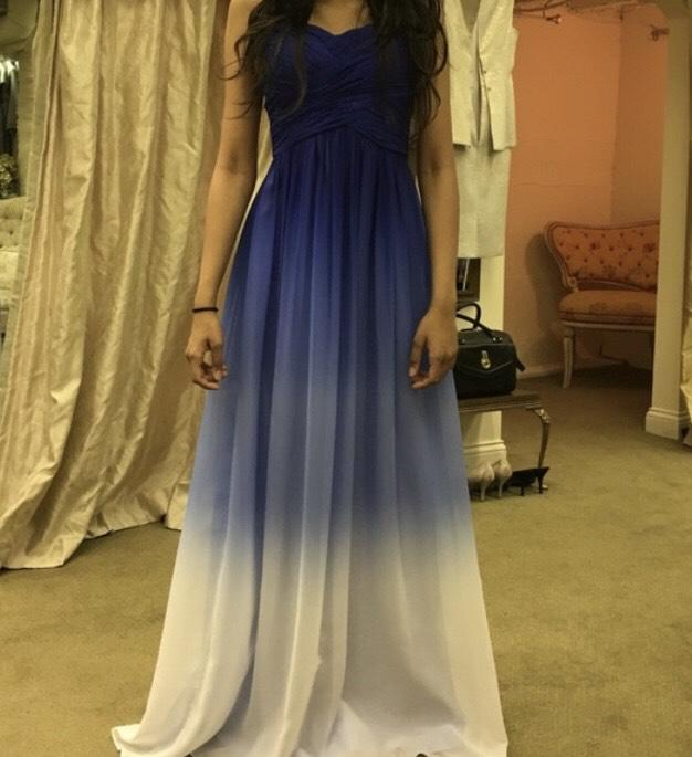 Decode Blue Size 0 Ombre Sweetheart A-line Dress on Queenly