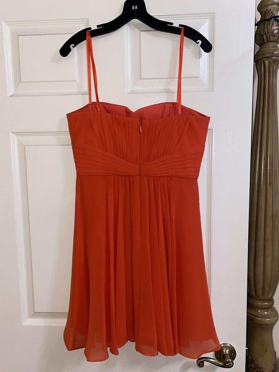 Orange Size 8 Cocktail Dress on Queenly