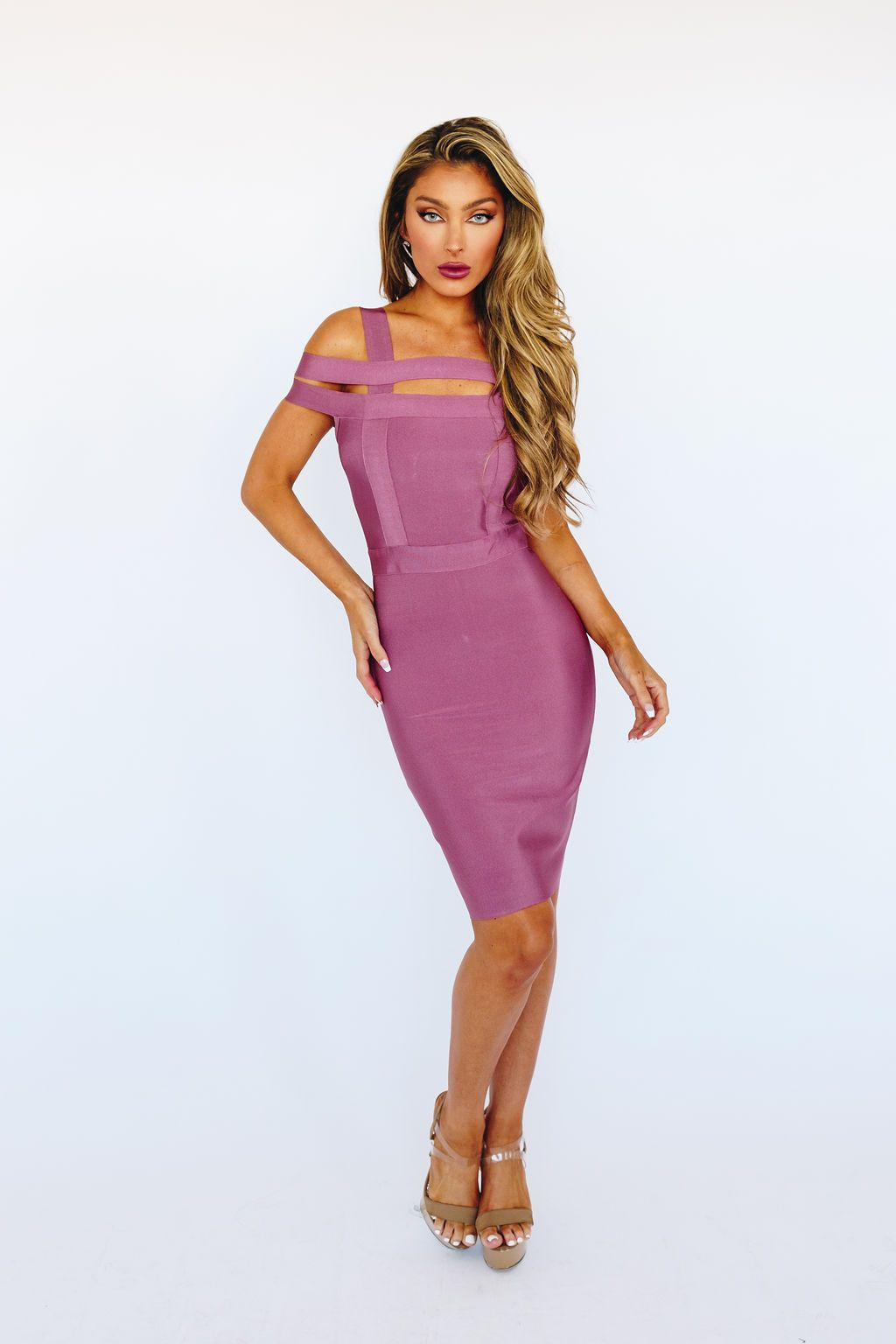 Style K5181 Wow Pink Size 2 Sorority Formal Tall Height Wedding Guest Cocktail Dress on Queenly