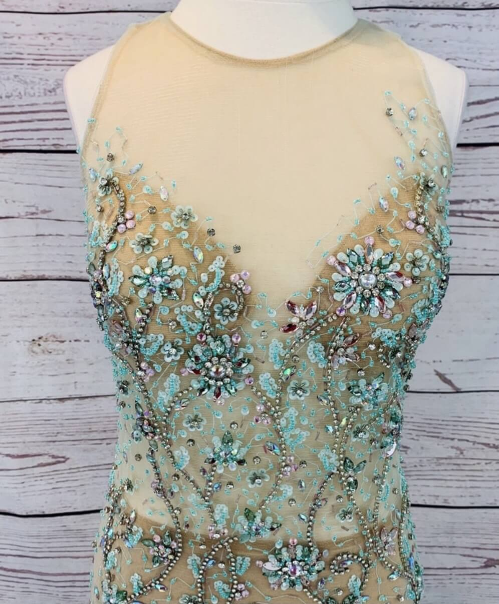 Green Size 8 Mermaid Dress on Queenly