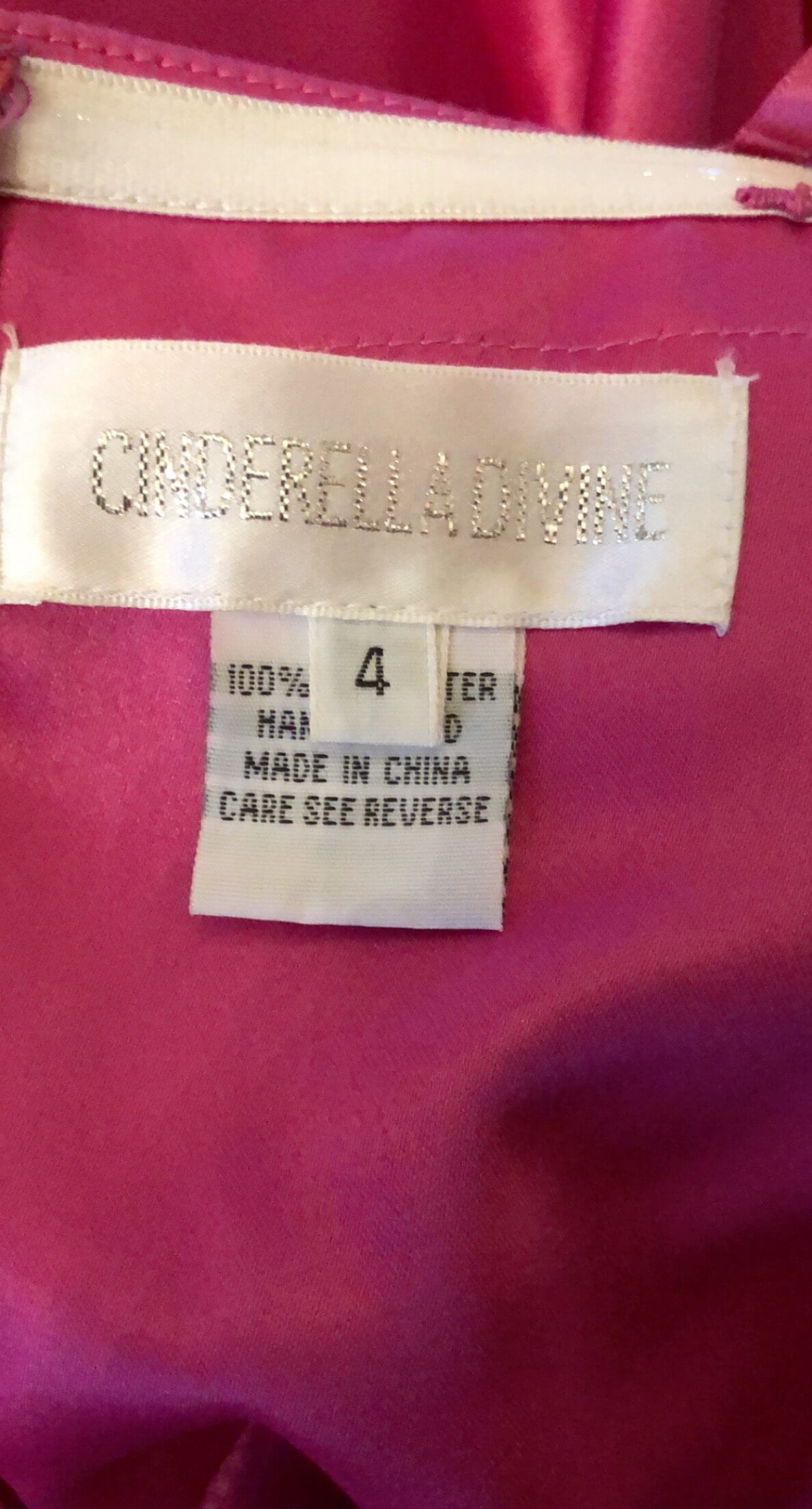 Cinderella Divine Pink Size 4 Strapless Ball gown on Queenly