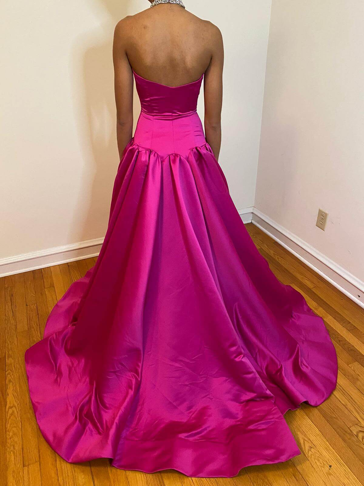 Jovani Hot Pink Size 2 Ball gown on Queenly
