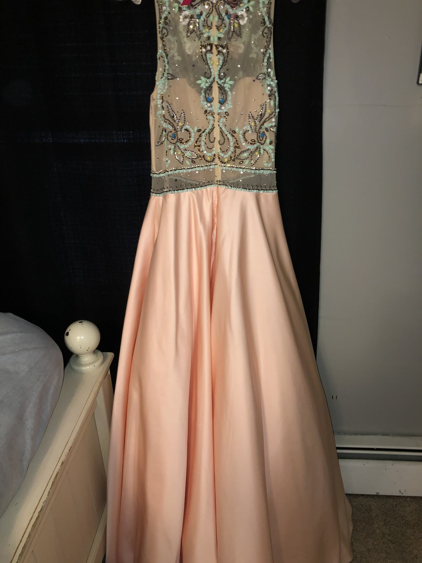 Mori Lee Pink Size 8 Prom Embroidery Pageant Ball gown on Queenly