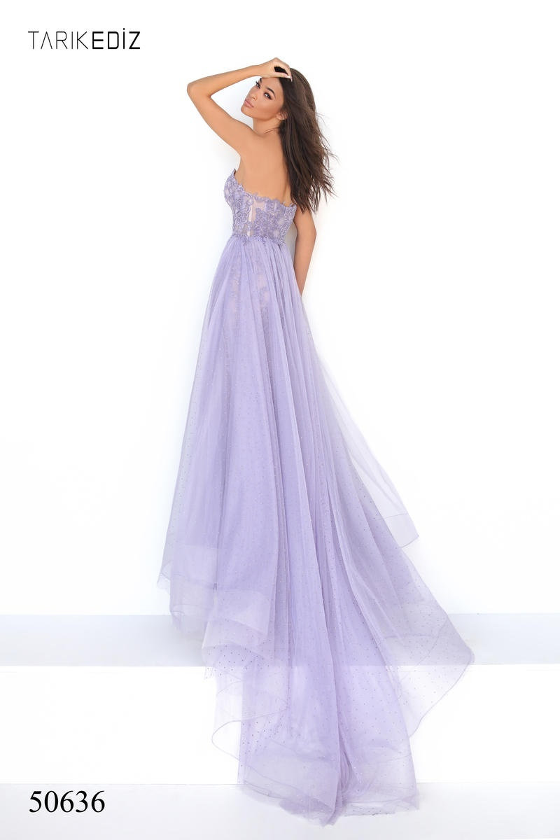 Style 50636 Tarik Ediz Purple Size 4 Lavender Pageant Prom Sequin Mermaid Dress on Queenly