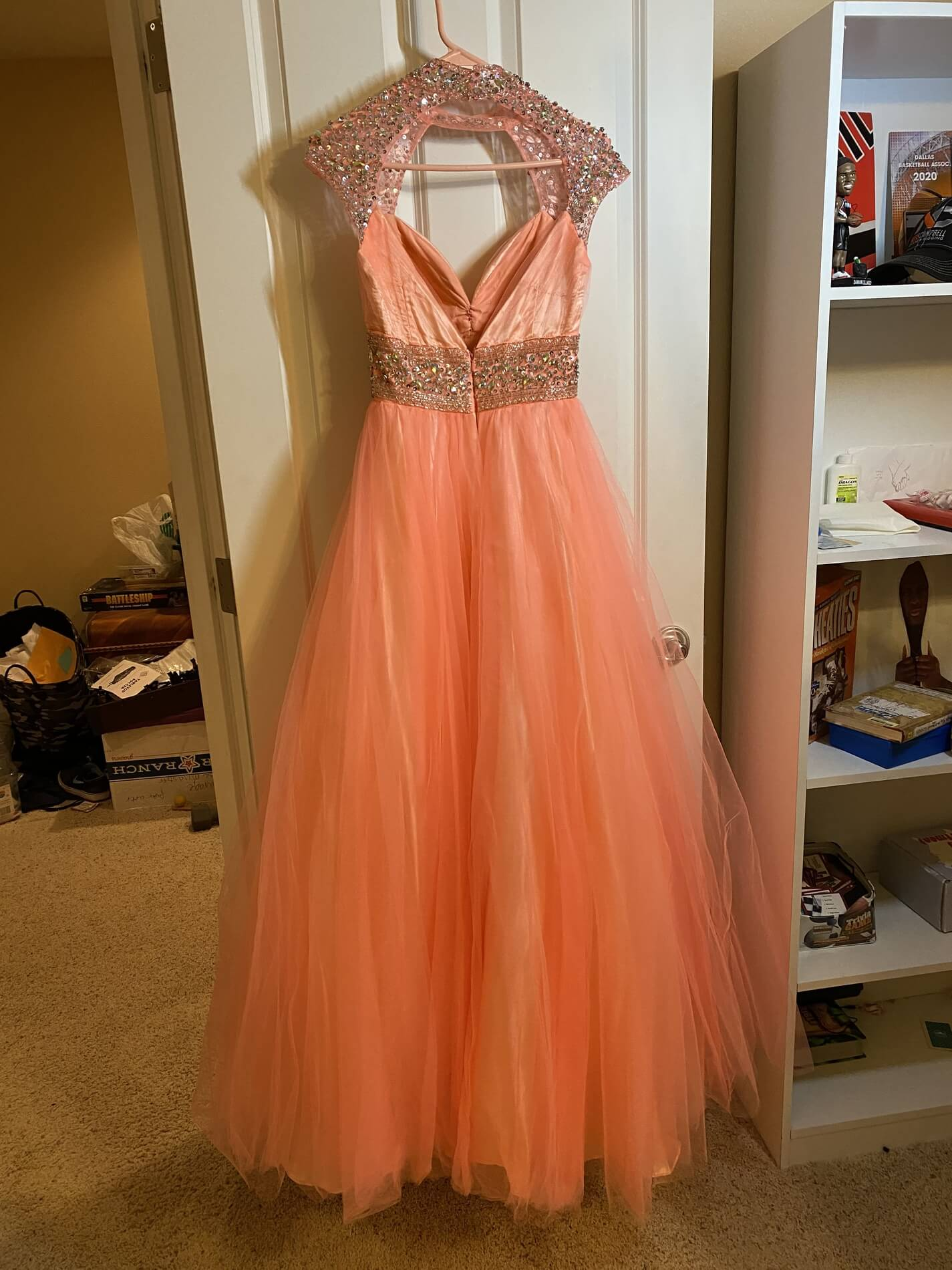 Mac Duggal Orange Size 4 Pageant Custom Ball gown on Queenly