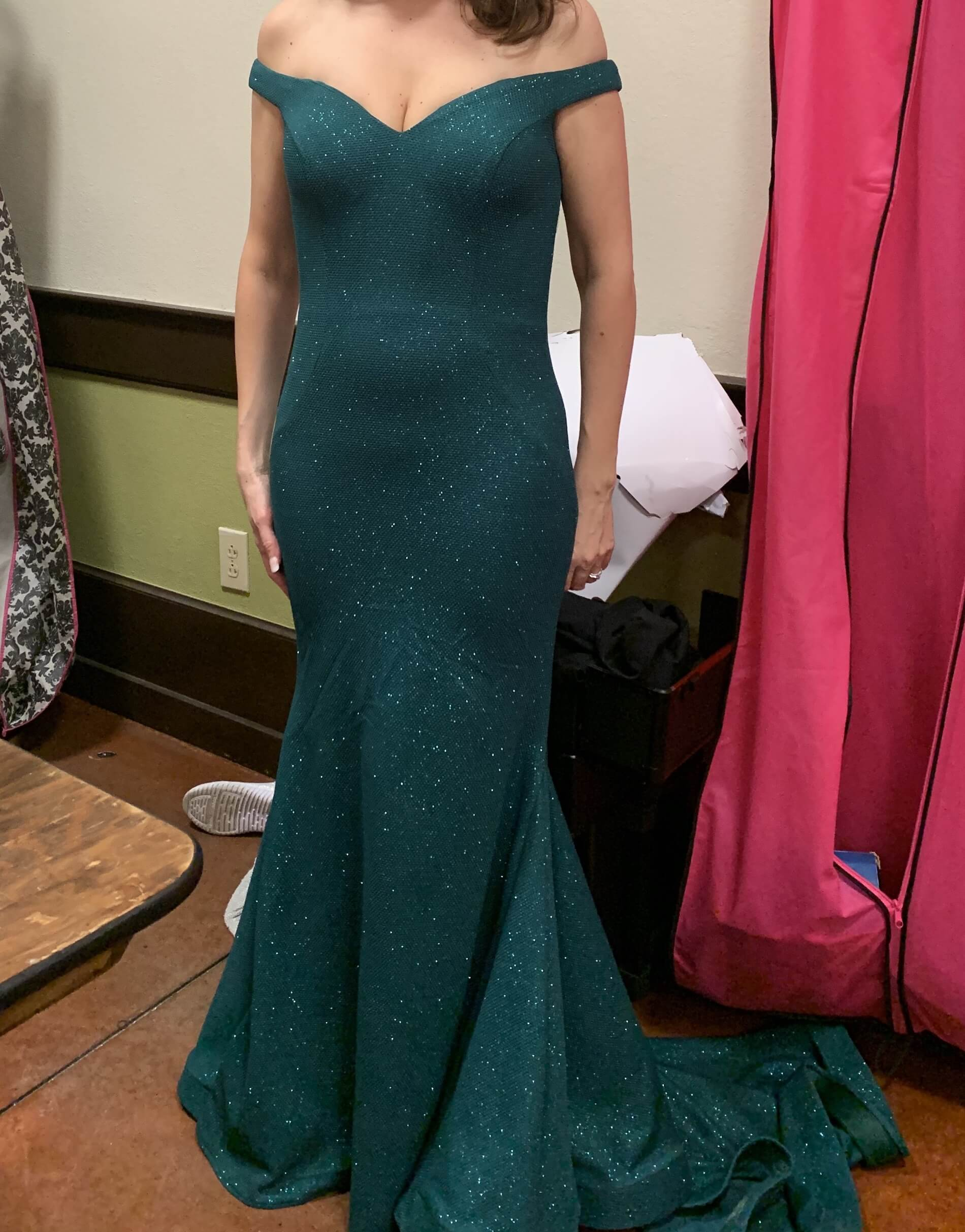 Jovani Green Size 6 Prom Pageant Train Mermaid Dress on Queenly