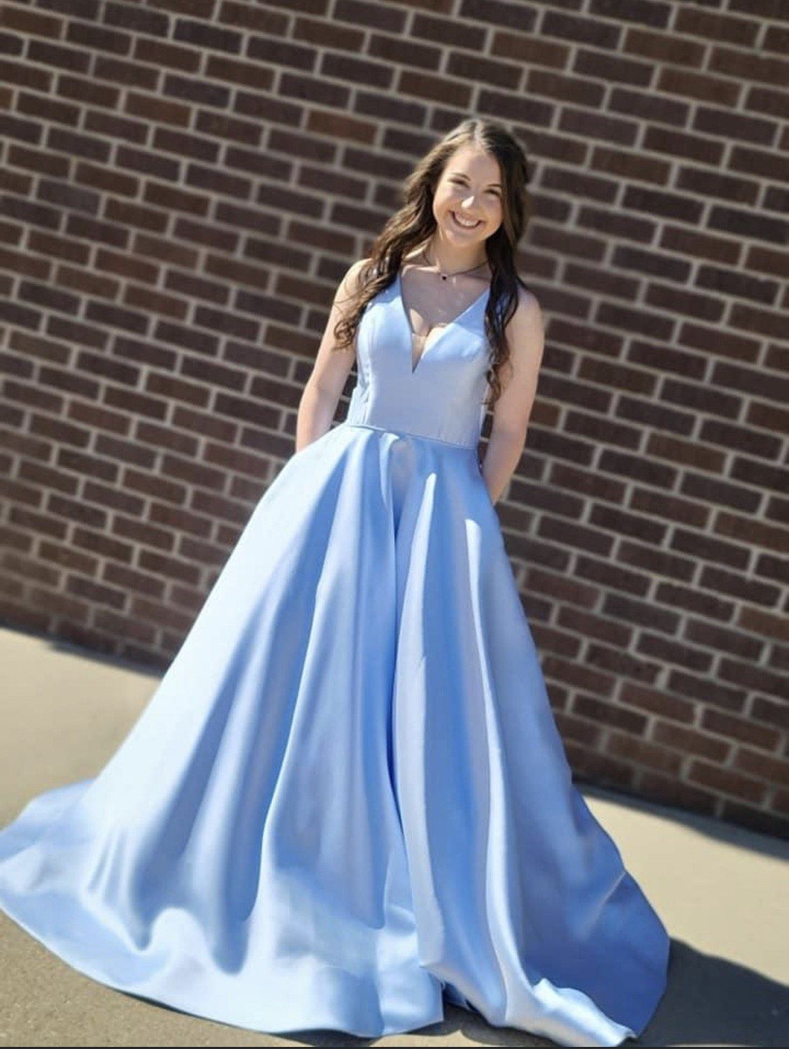 Sherri Hill Light Blue Size 2 Prom Short Height Ball gown on Queenly